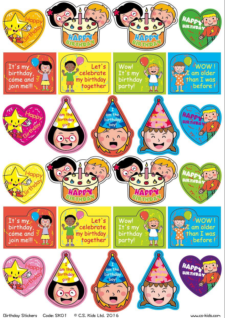 Birthday stickers classroom 3gbp zone birthdays stickers